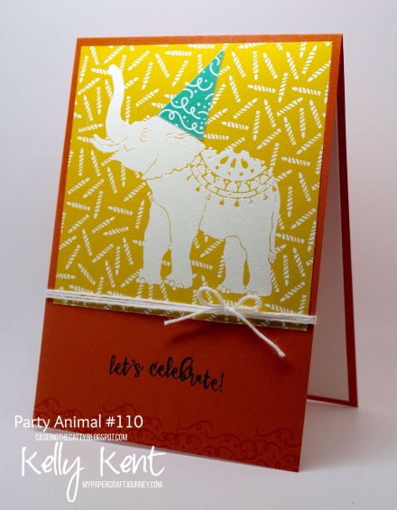 CASEing the Catty #110 - Party Animal Elephants. Kelly Kent - mypapercraftjourney.com.