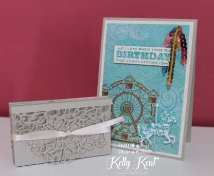 ESAD Blog Hop - 2017 Occasions Catalogue. Personalised Concertina Card. Kelly Kent - mypapercraftjourney.com.