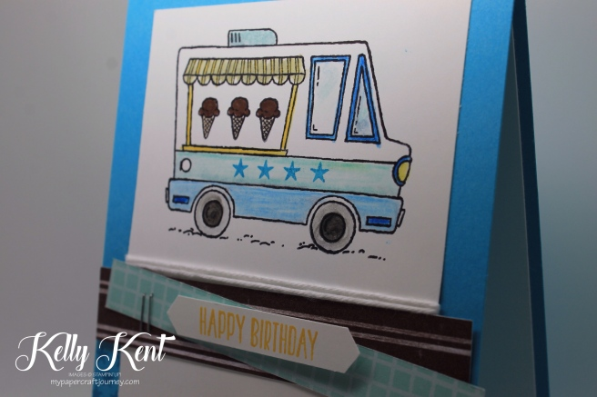 Tasty Trucks Birthday Card. Kelly Kent - mypapercraftjourney.com.