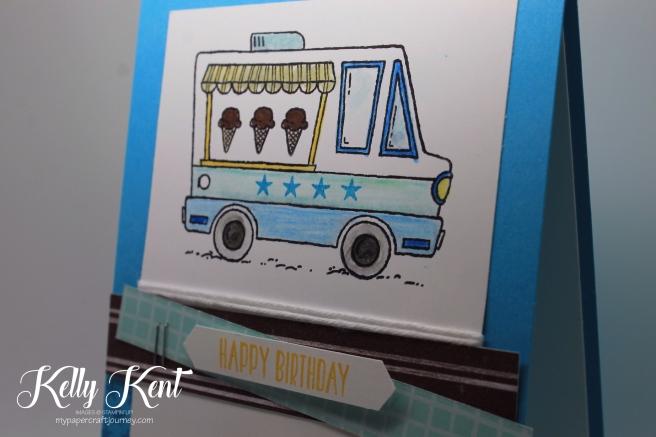 Tasty Trucks Birthday Card. Kelly Kent - mypapercraftjourney.com.