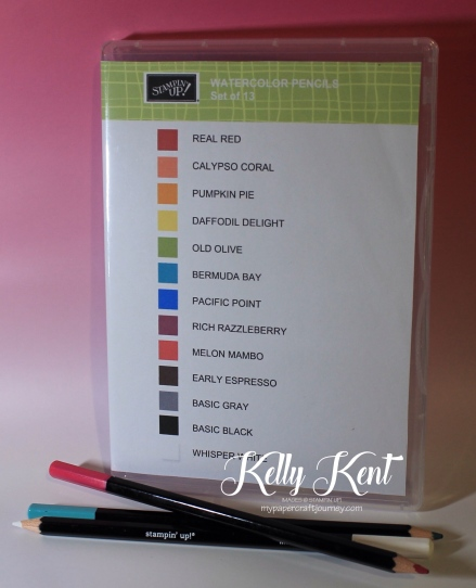 Watercolor Pencils - Clear Case Insert. Free Printable. Kelly Kent - mypapercraftjourney.com.