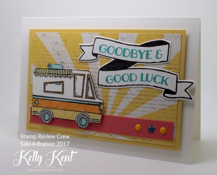 Stamp Review Crew - Sale-A-Bration 2017: Tasty Trucks.  Kelly Kent - mypapercraftjourney.com.