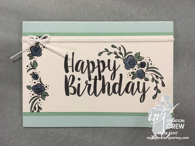 Colour INKspiration #CI02 - Big on Birthdays. Kelly Kent - mypapercraftjourney.com.