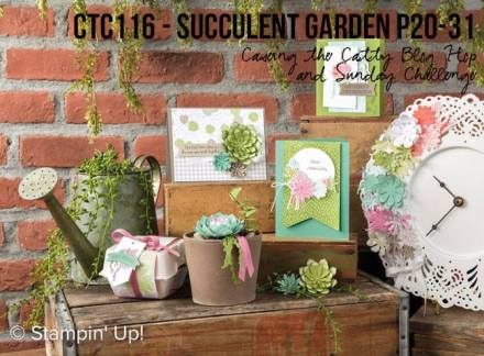 CASEing the Catty #116 Succulent Garden