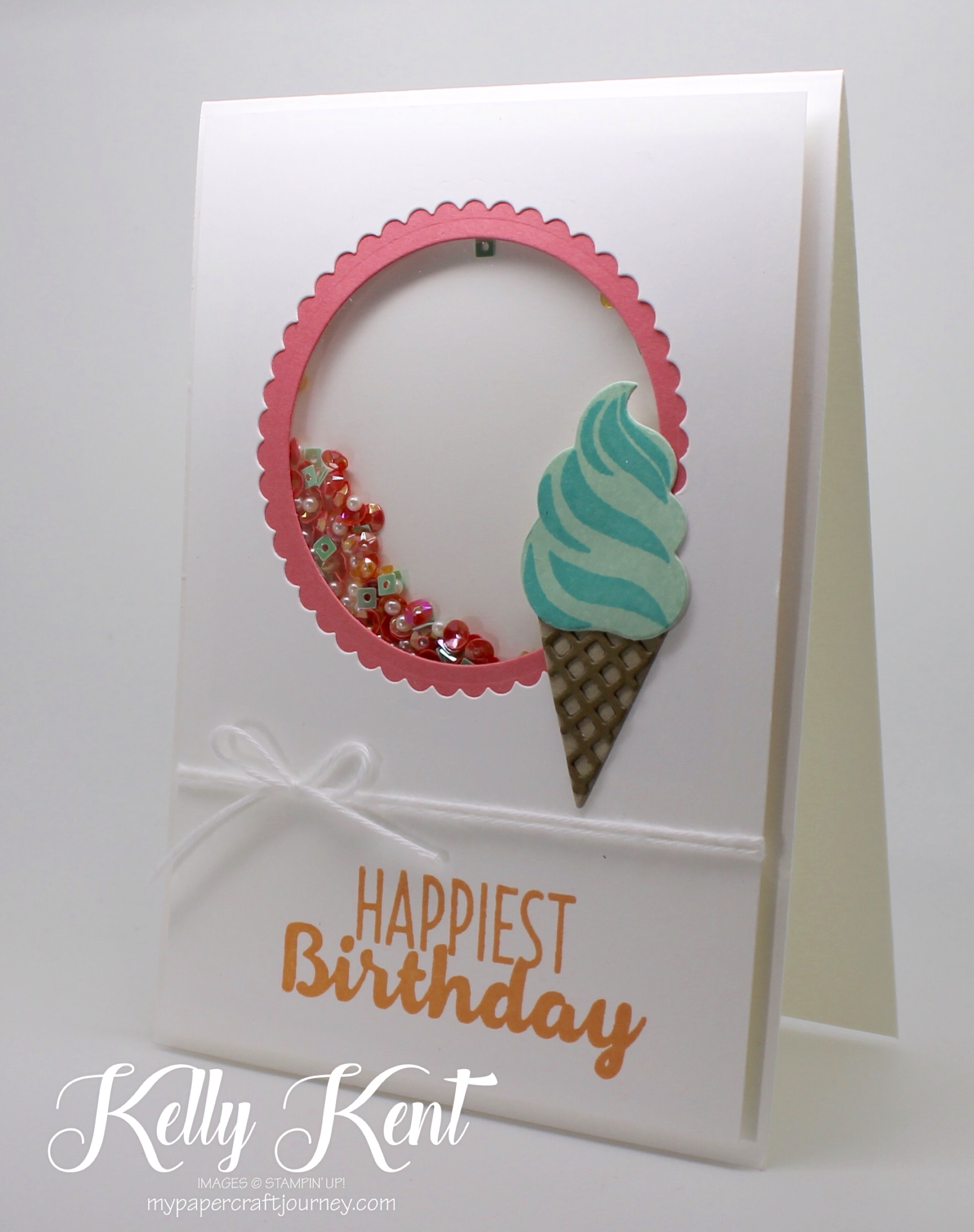 Cool Treats Shaker Card. Kelly Kent - mypapercraftjourney.com.