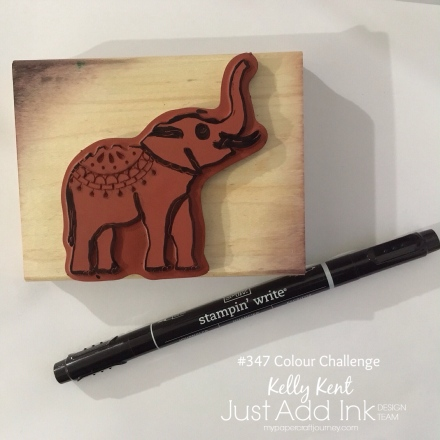 Just Add Ink #347. Lucky Elephant. Kelly Kent - mypapercraftjourney.com.
