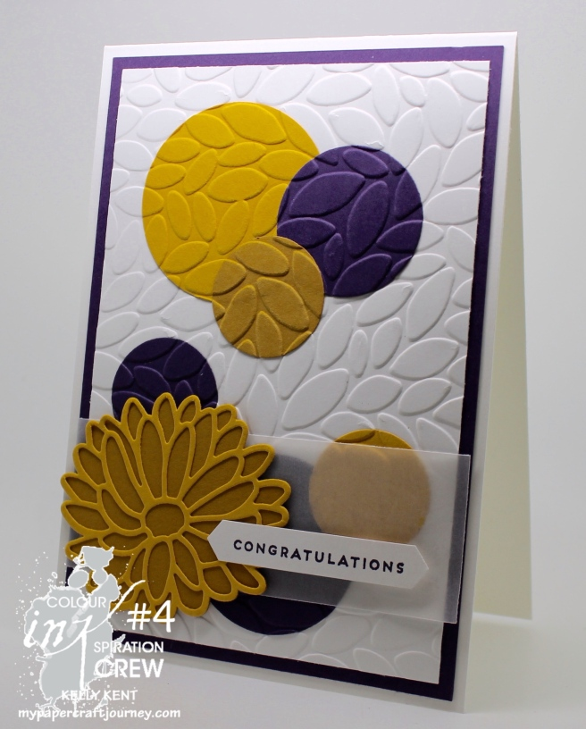 Colour INKspiration #4 - In-laid embossing technique. Kelly Kent - mypapercraftjourney.com.