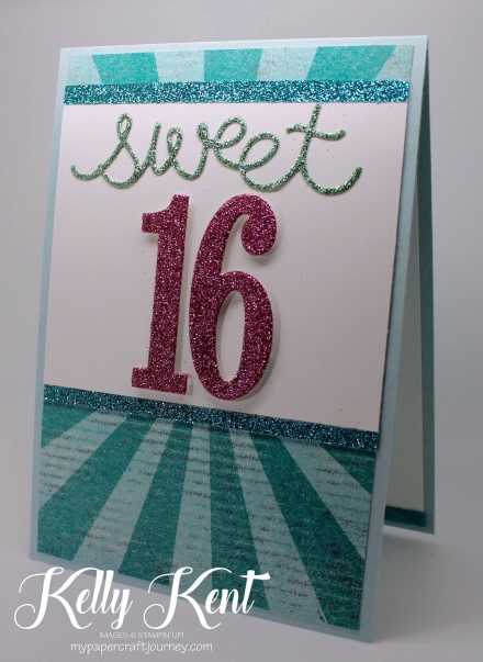 Sale-A-Bration 2017 Glimmer - Sweet 16. Kelly Kent - mypapercraftjourney.com.