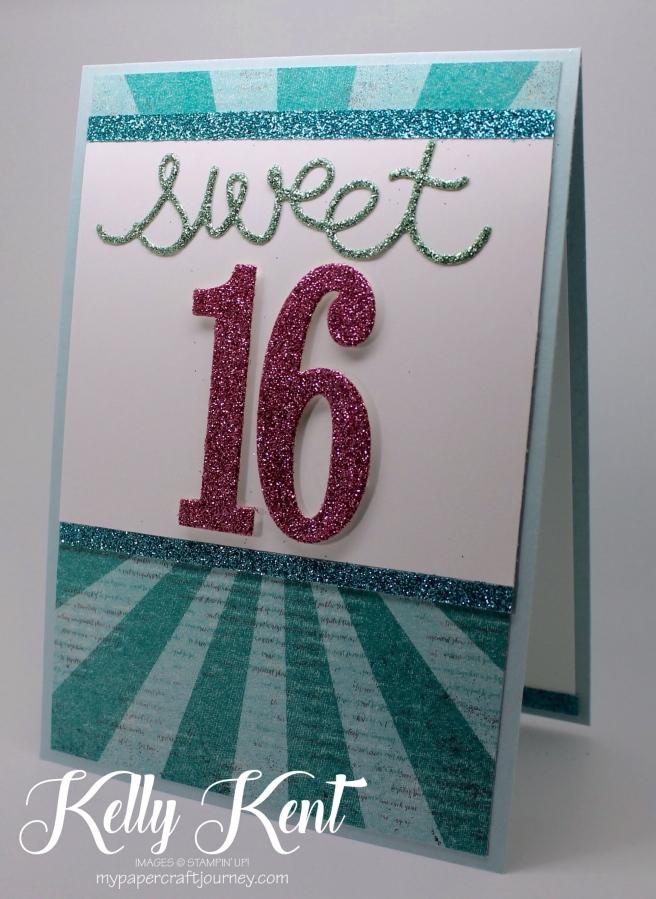 Sale-A-Bration 2017 Glimmer - Sweet 16. Kelly Kent - mypapercraftjourney.com.