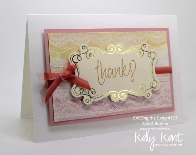 CASEing the Catty #115 - Sale-A-Bration. Kelly Kent - mypapercraftjourney.com.