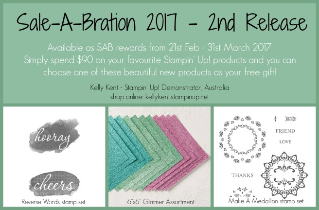 Sale-A-Bration 2017 - 2nd Release. Kelly Kent - mypapercraftjourney.com.