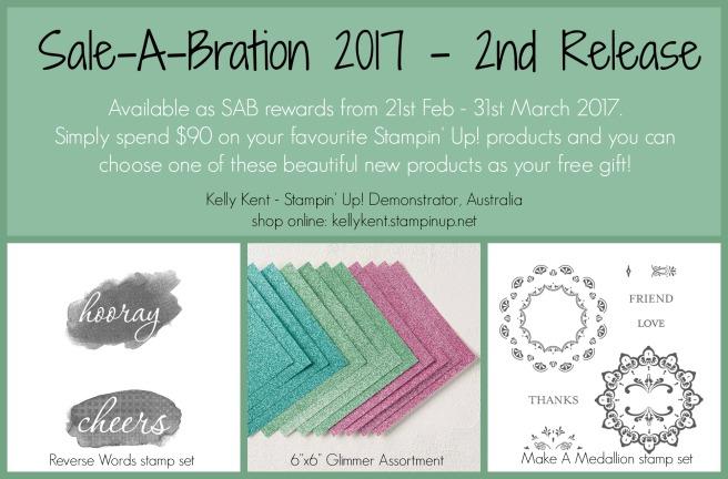 Sale-A-Bration 2017 - 2nd Release. Kelly Kent - mypapercraftjourney.com.