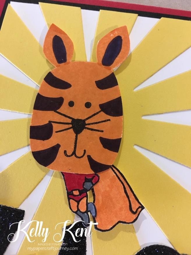 Fighting Tiger - Super Zac! Kelly Kent - mypapercraftjourney.com.