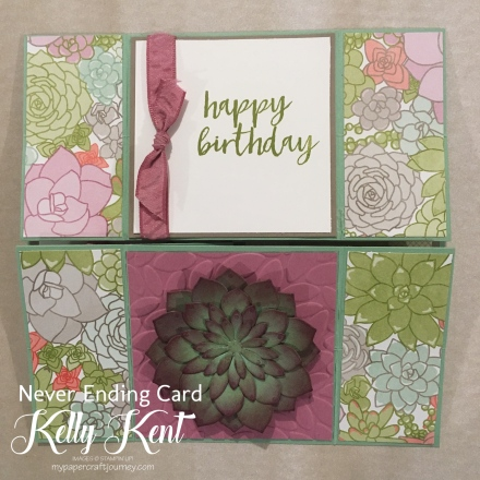 Never Ending Succulent Card.  Kelly Kent - mypapercraftjourney.com.