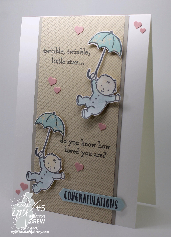Colour INKspiration #05 - Twin Babies. Kelly Kent - mypapercraftjourney.com.