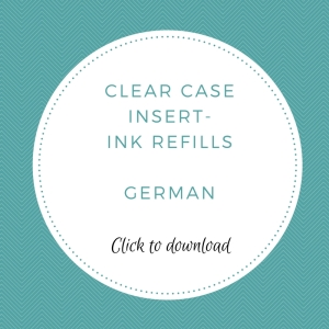 Clear Case Insert - German | kelly kent