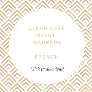 Clear Case Insert - French | kelly kent