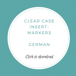 Clear Case Insert - German | kelly kent