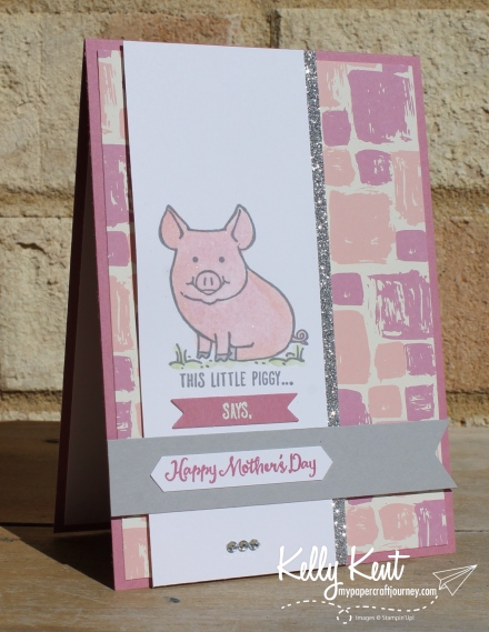 This Little Piggy | kelly kent mypapercraftjourney.com