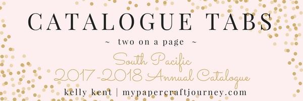 Catalogue Tabs - Stampin' Up! 2017 Annual Catalogue | kelly kent