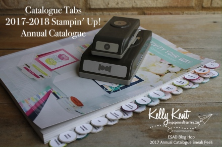 Catalogue Tabs - Stampin' Up! 2017 Annual Catalogue | kelly kent