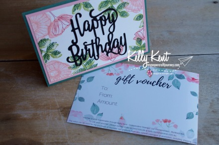 Stampin' Up! Gift Voucher | kelly kent