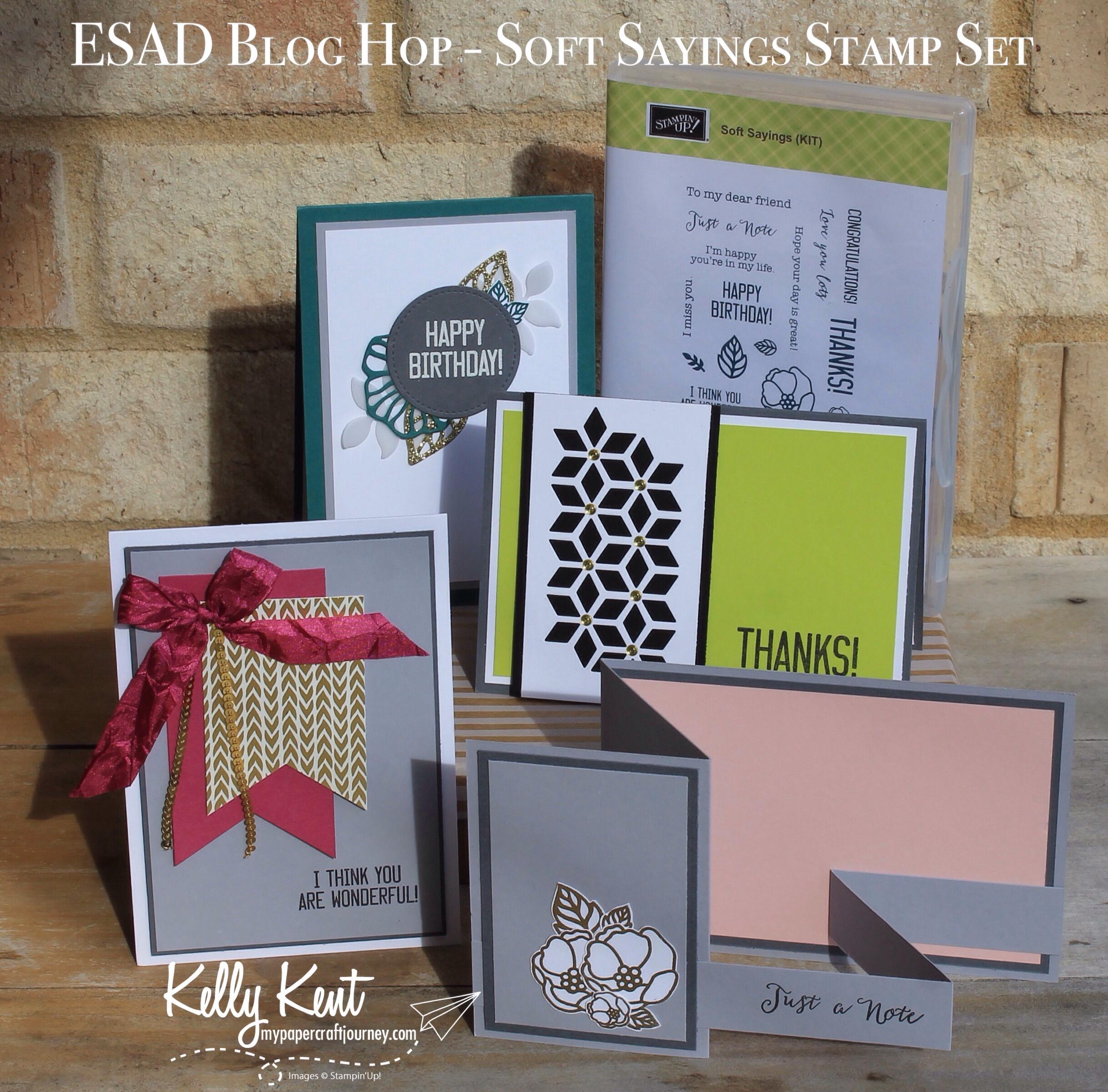 ESAD Blog Hop - Soft Sayings stamp set | kelly kent
