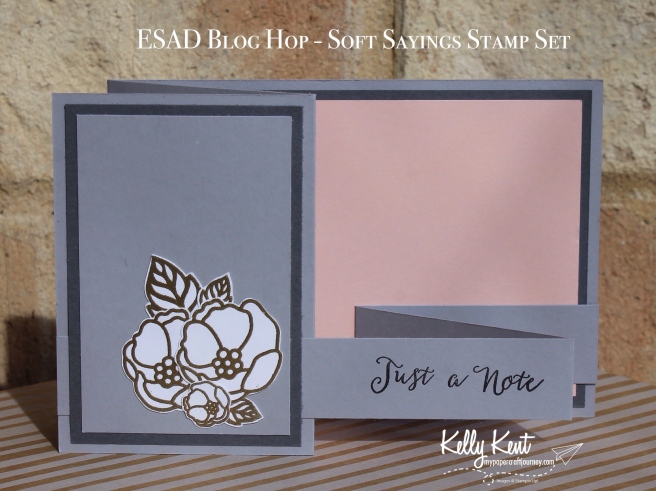 ESAD Blog Hop - Soft Sayings stamp set | kelly kent