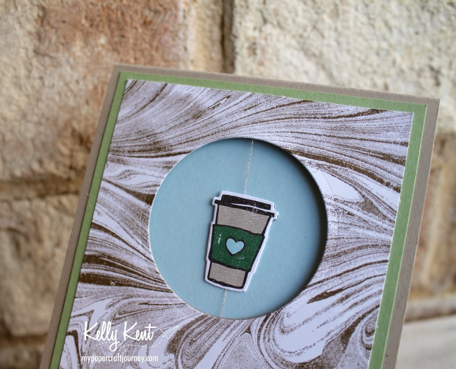 Coffee Break Spinner Card | kelly kent