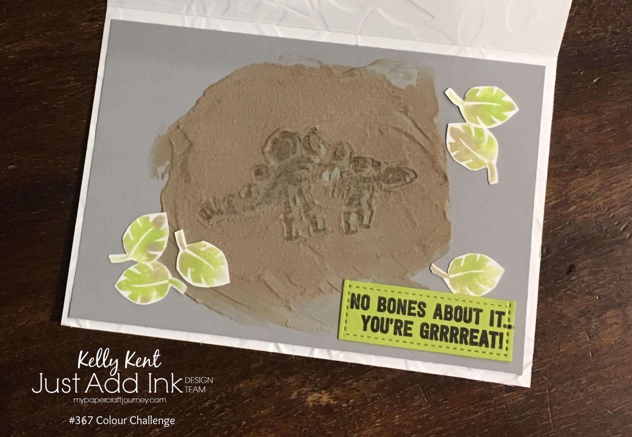 Just Add Ink #367 Dinosaur Fossil | kelly kent