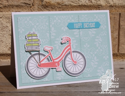 Colour INKspiration #17 Bike Ride | kelly kent