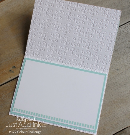 Just Add Ink #377 Colour Challenge | kelly kent