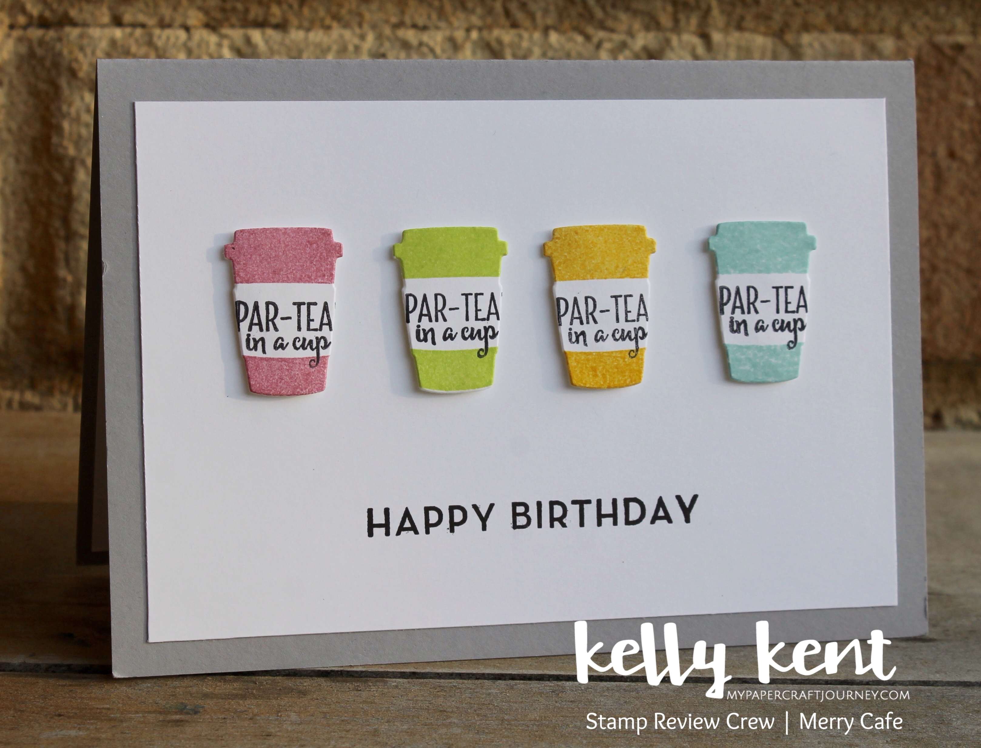 Stamp Review Crew Merry Cafe | kelly kent