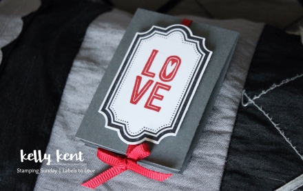 Stamping Sunday - Labels to Love: Mini Pop & Twist Card | kelly kent
