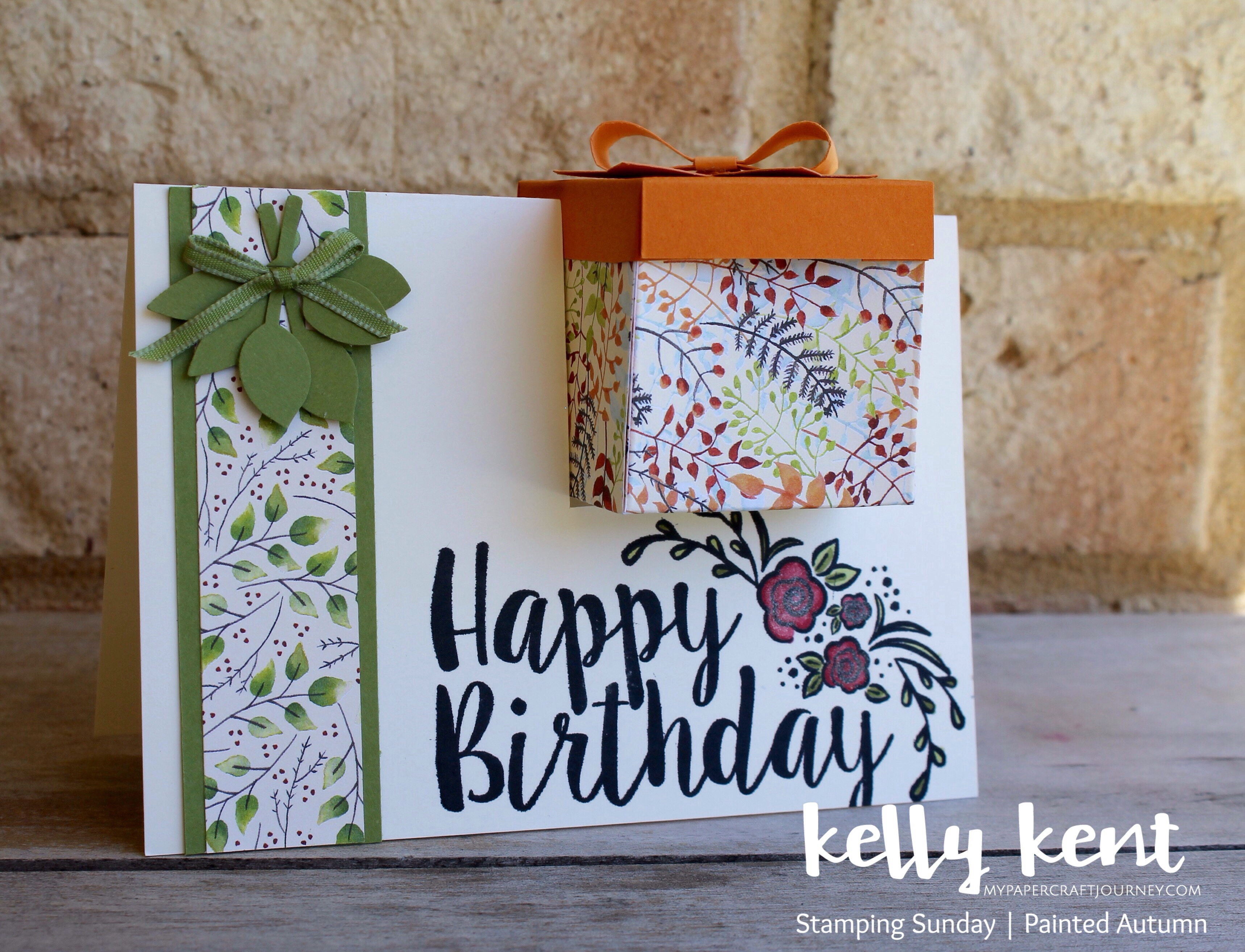 Stamping Sunday Painted Autumn DSP | kelly kent