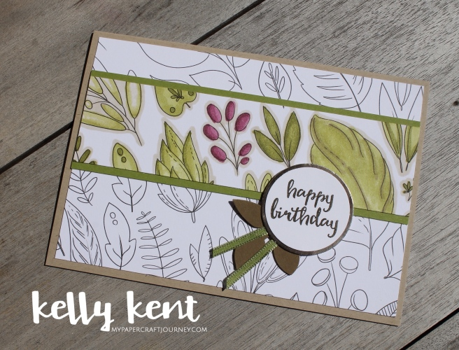 Stampin Blends & Just Add Color | kelly kent
