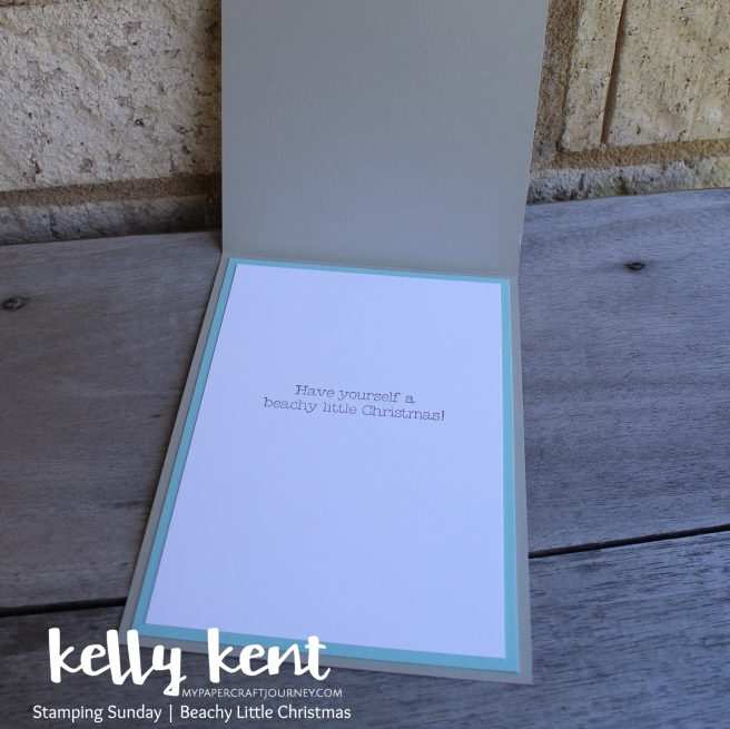 Stamping Sunday Beachy Little Christmas | kelly kent