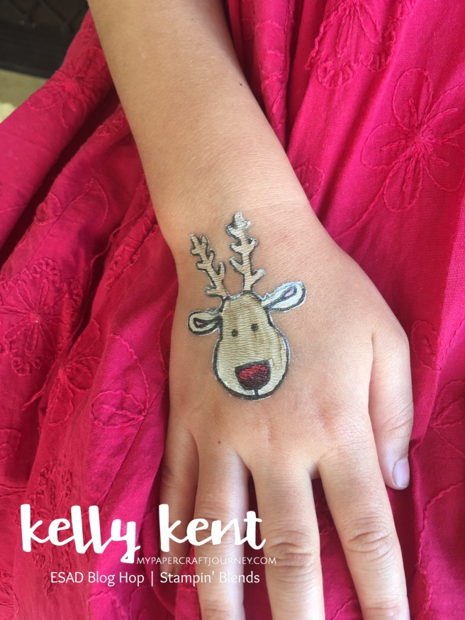 ESAD Blog Hop Stampin' Blends & Temporary Tattoos | kelly kent