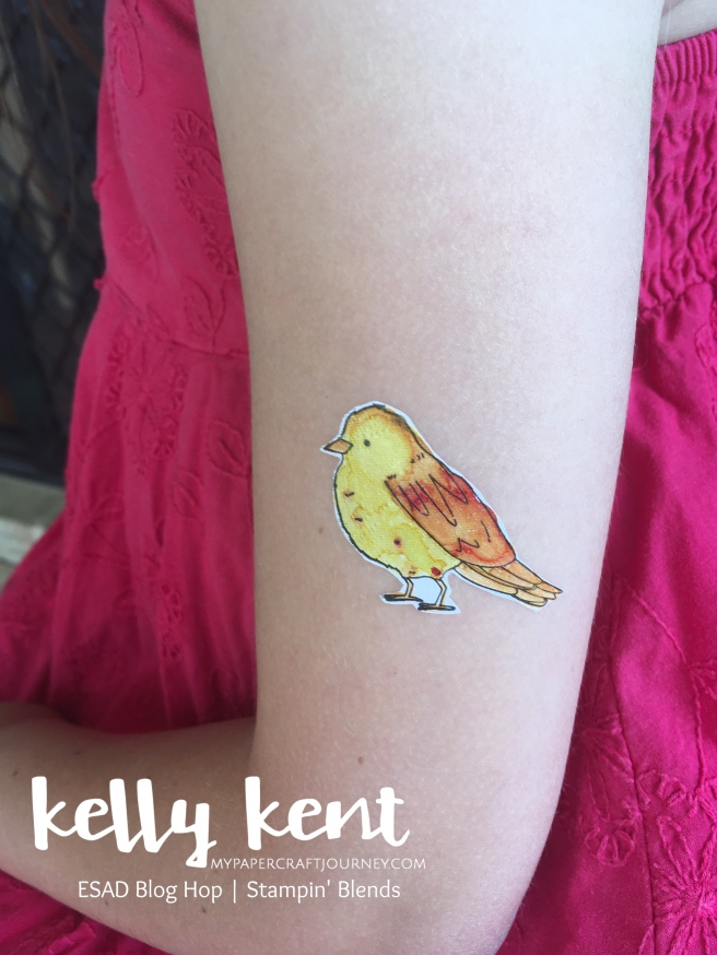 ESAD Blog Hop Stampin' Blends & Temporary Tattoos | kelly kent
