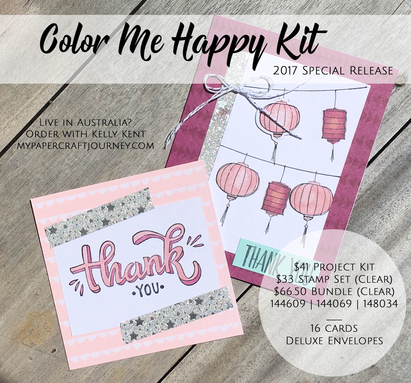 Color Me Happy Plus Used Colour Me Happy Stamp Set Stampin Up Project Kits X 2
