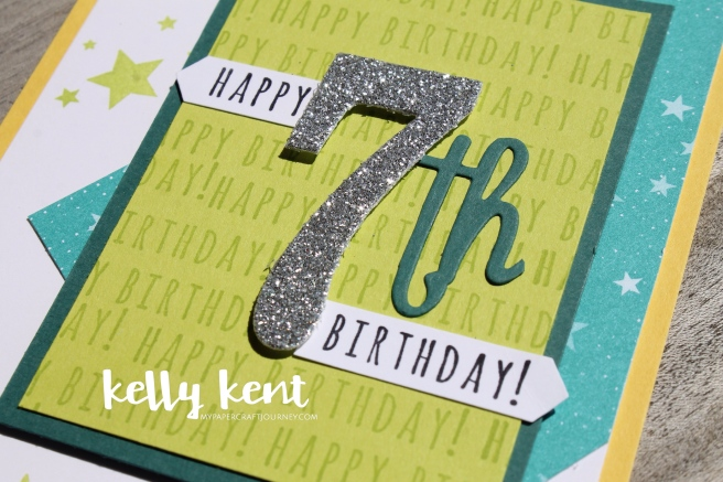 7th Birthday Card | kelly kent