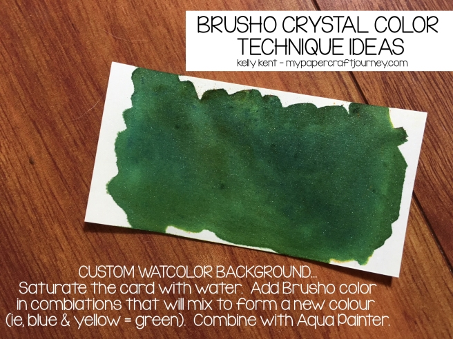 Brusho - Custom Watercolor Background | kelly kent