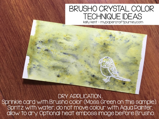 Brusho - dry application | kelly kent