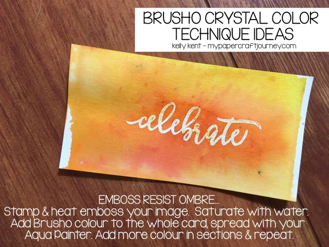 Brusho - Emboss Resist Ombre | kelly kent