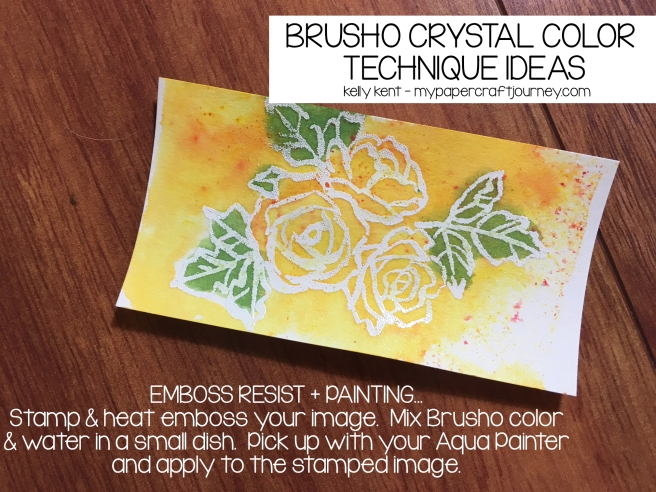Brusho - Emboss Resist Painting | kelly kent