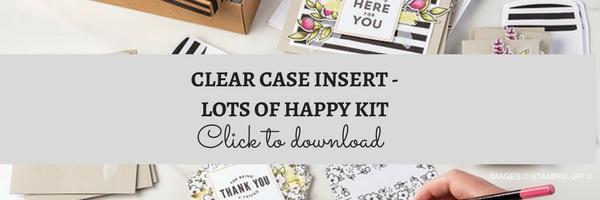 CLEAR CASE INSERT - LOTS OF HAPPY KIT | kelly kent