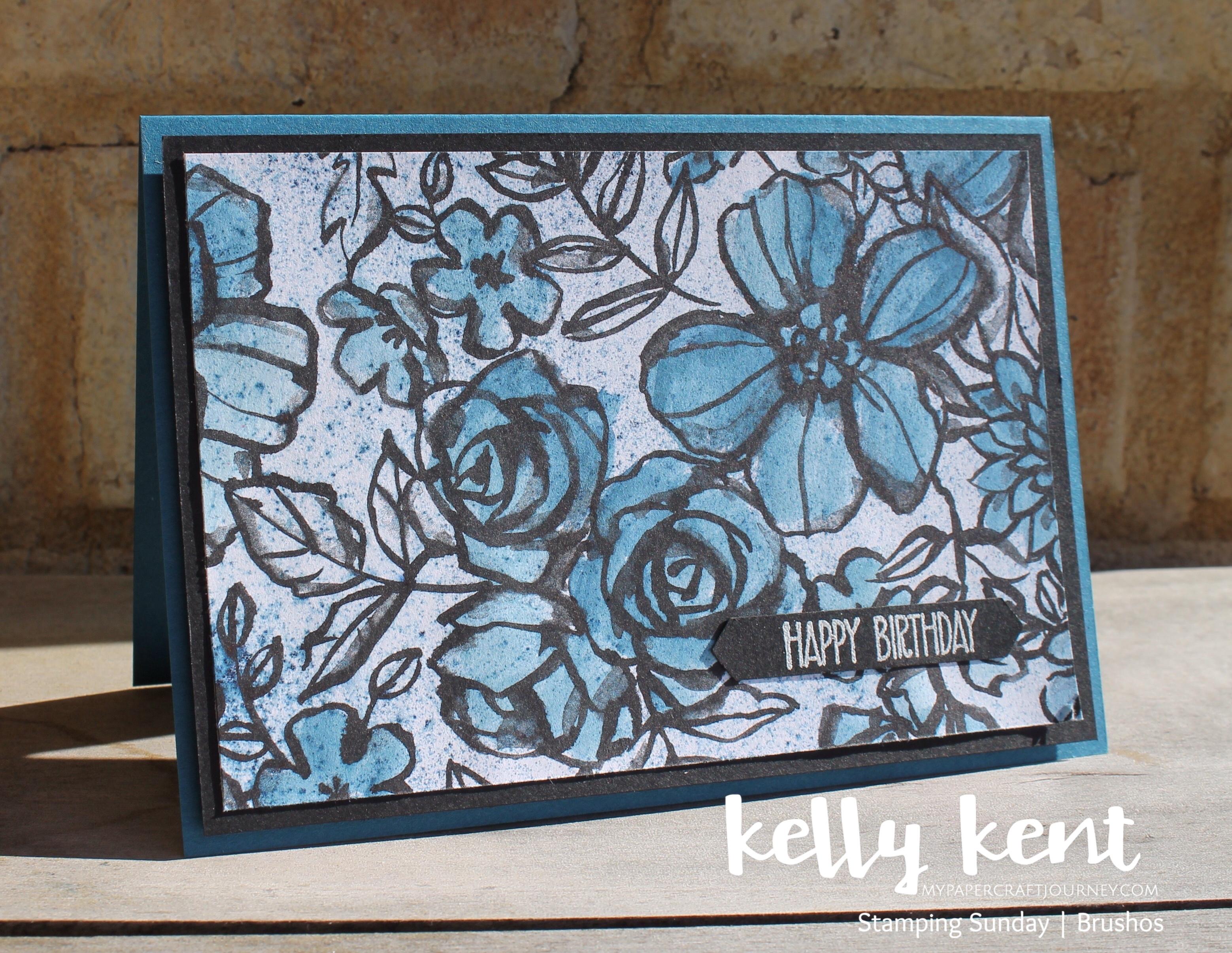 Stamping Sunday Brusho | kelly kent