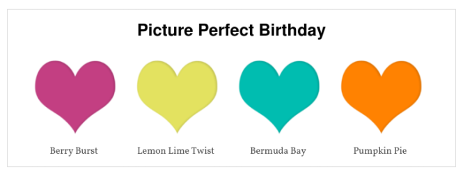 Picture Perfect Birthday Colour Combination | kelly kent