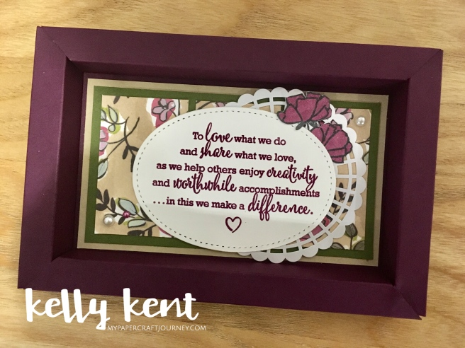 Share What You Love - Statement of the Heart Shadow Box Frame   kelly kent