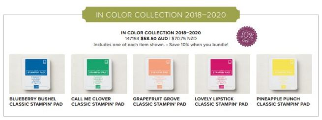 2018-2020 In Color Stamp Pads